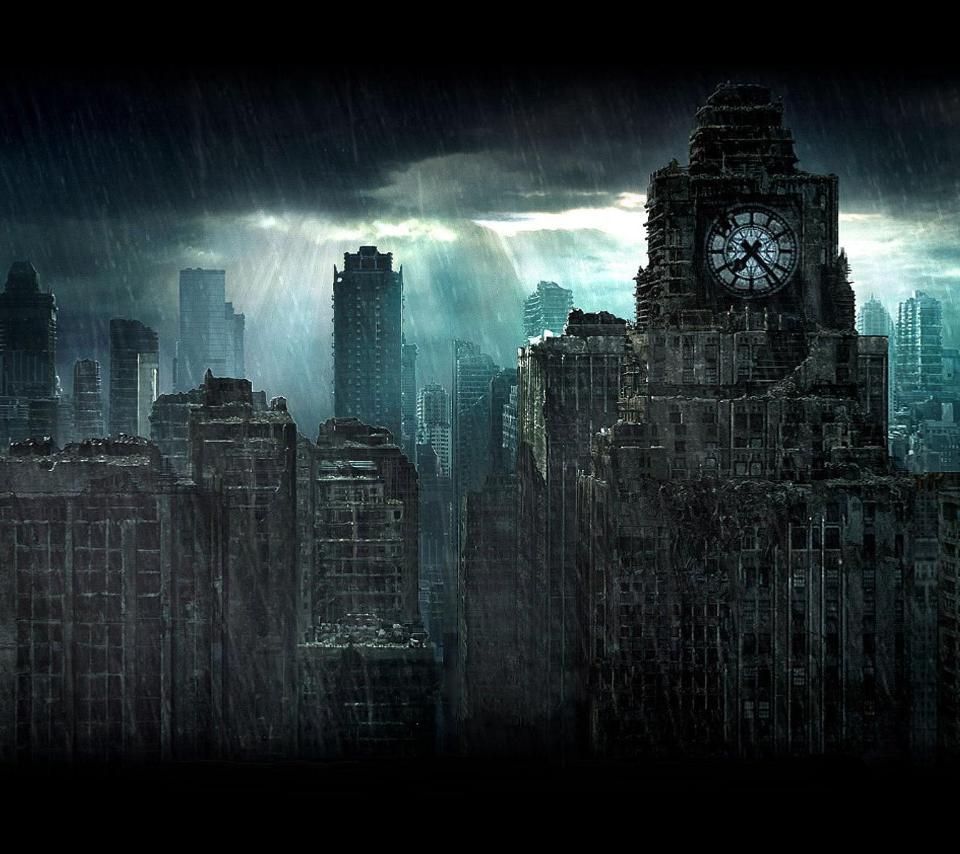Dark City Background