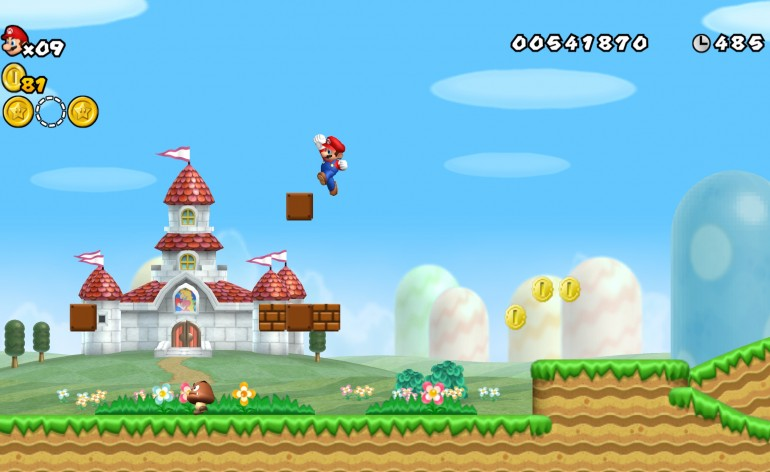 New Super Mario Bros Wii   Peachs Castle HD Wallpaper   The FXBL 770x472