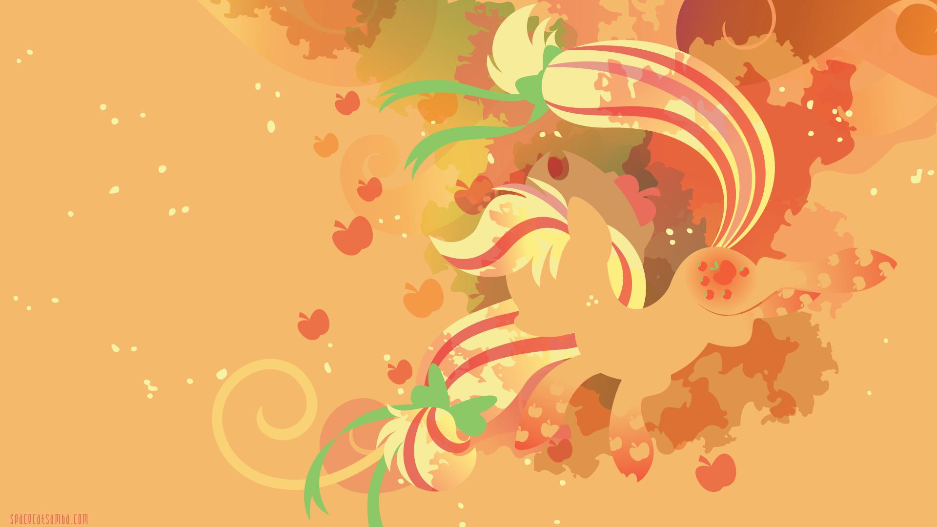 rainbow power applejack silhouette wall   Applejack My Little Pony 1920x1080