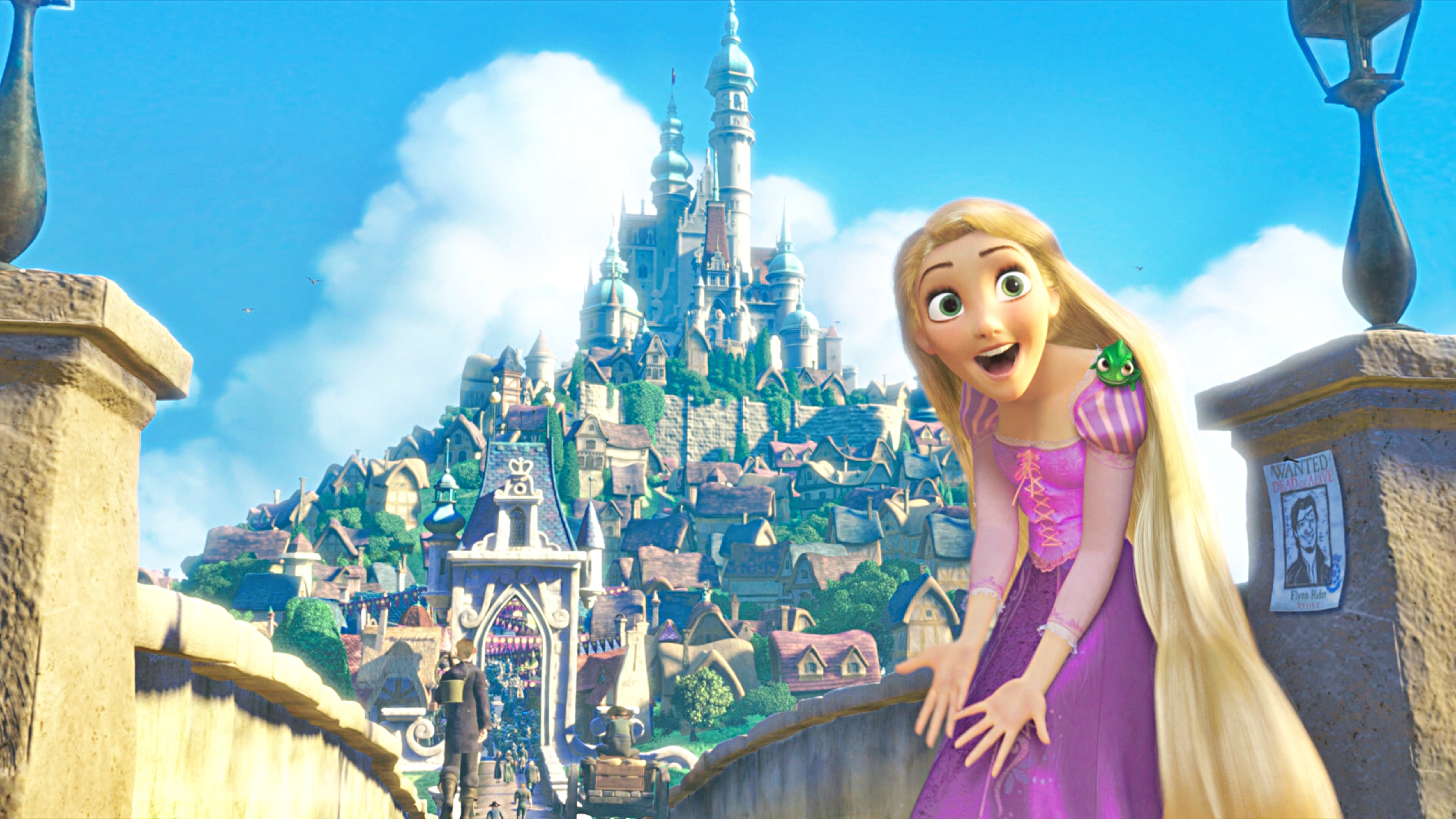 Walt Disney Screencaps Princess Rapunzel Pascal walt disney characters 5000x2813