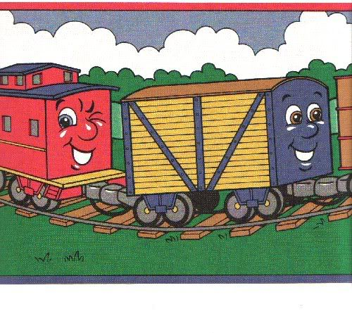 Cartoon Train Border Background   Cartoon Train Border Wallpaper 500x473