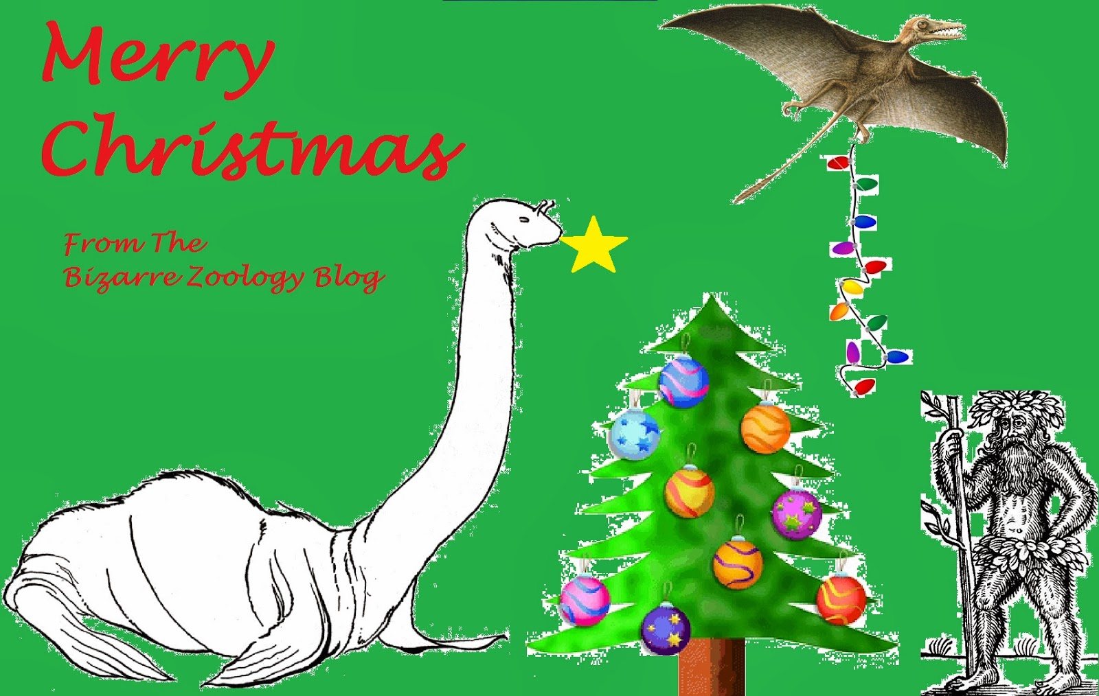 Bizarre Zoology Merry Christmas and a Zoological New Year 1600x1014