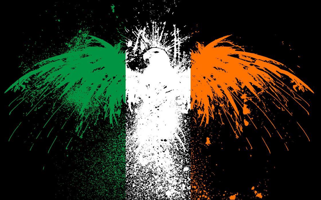 Ireland flags wallpaper 1920x1200 222375 WallpaperUP 1120x700