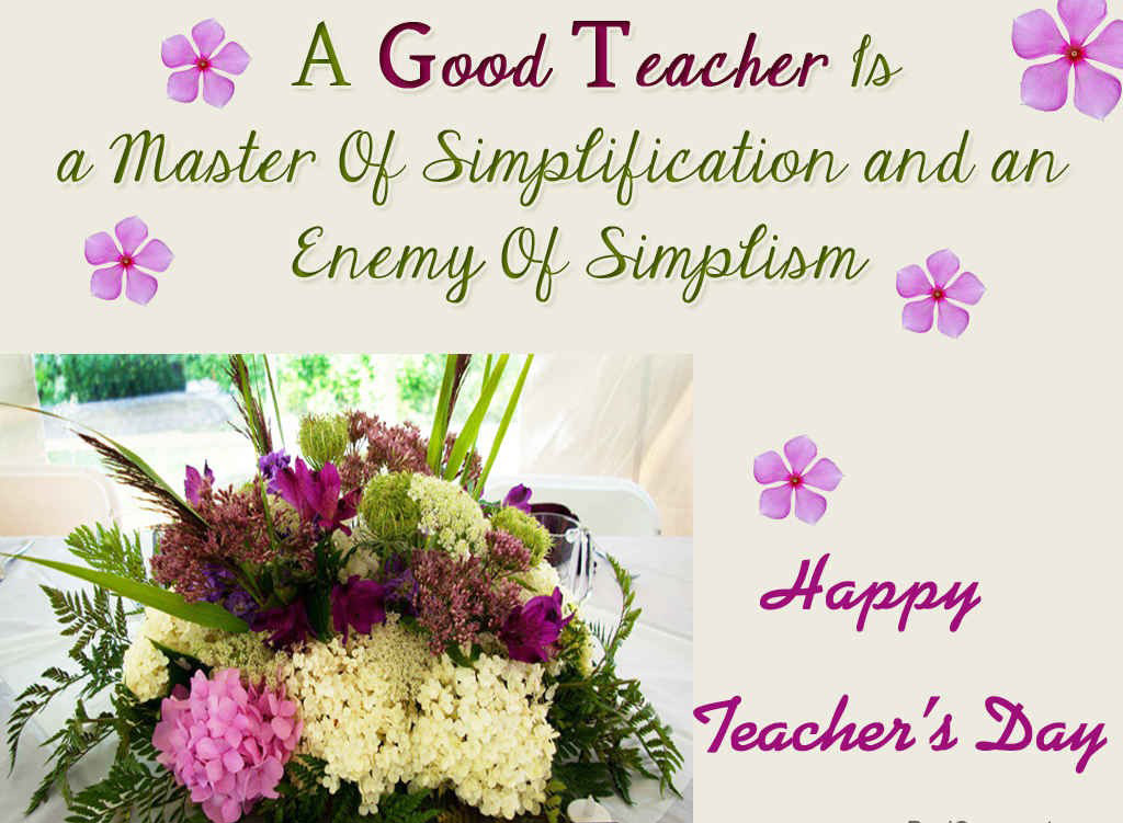 A Good Teacher Is A Master Of Simplification And Enemy Of Simplism 1024x751