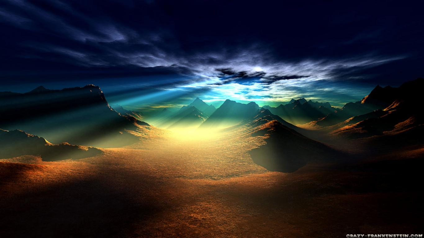 Download HD Smittdogg Awesome Sunset Mountain Wallpaper Nature 1366x768
