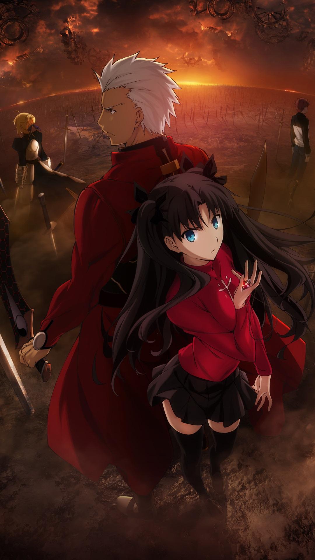Fate Stay Night Unlimited Blade Works Rin Tohsaka ArcheriPhone 6 Plus 1080x1920