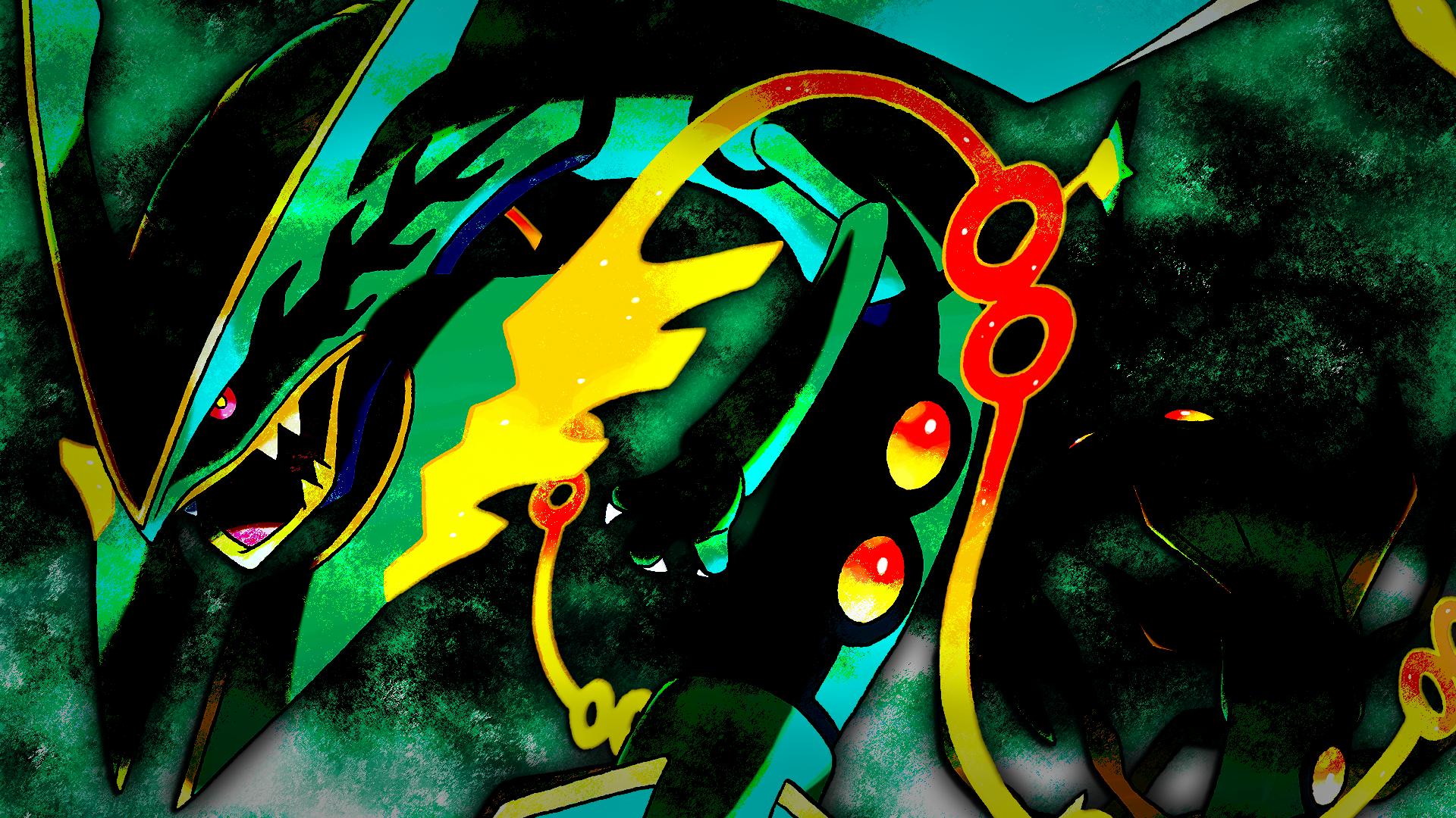 49 Shiny Mega Rayquaza Wallpaper On Wallpapersafari