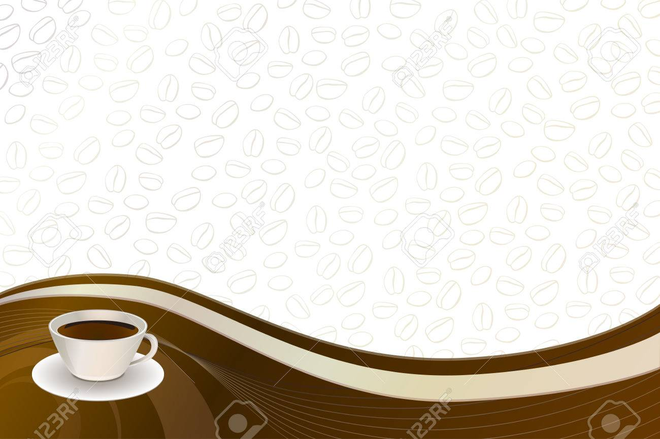 Abstract Background Coffee Brown Beige Cup Vector Royalty 1300x866