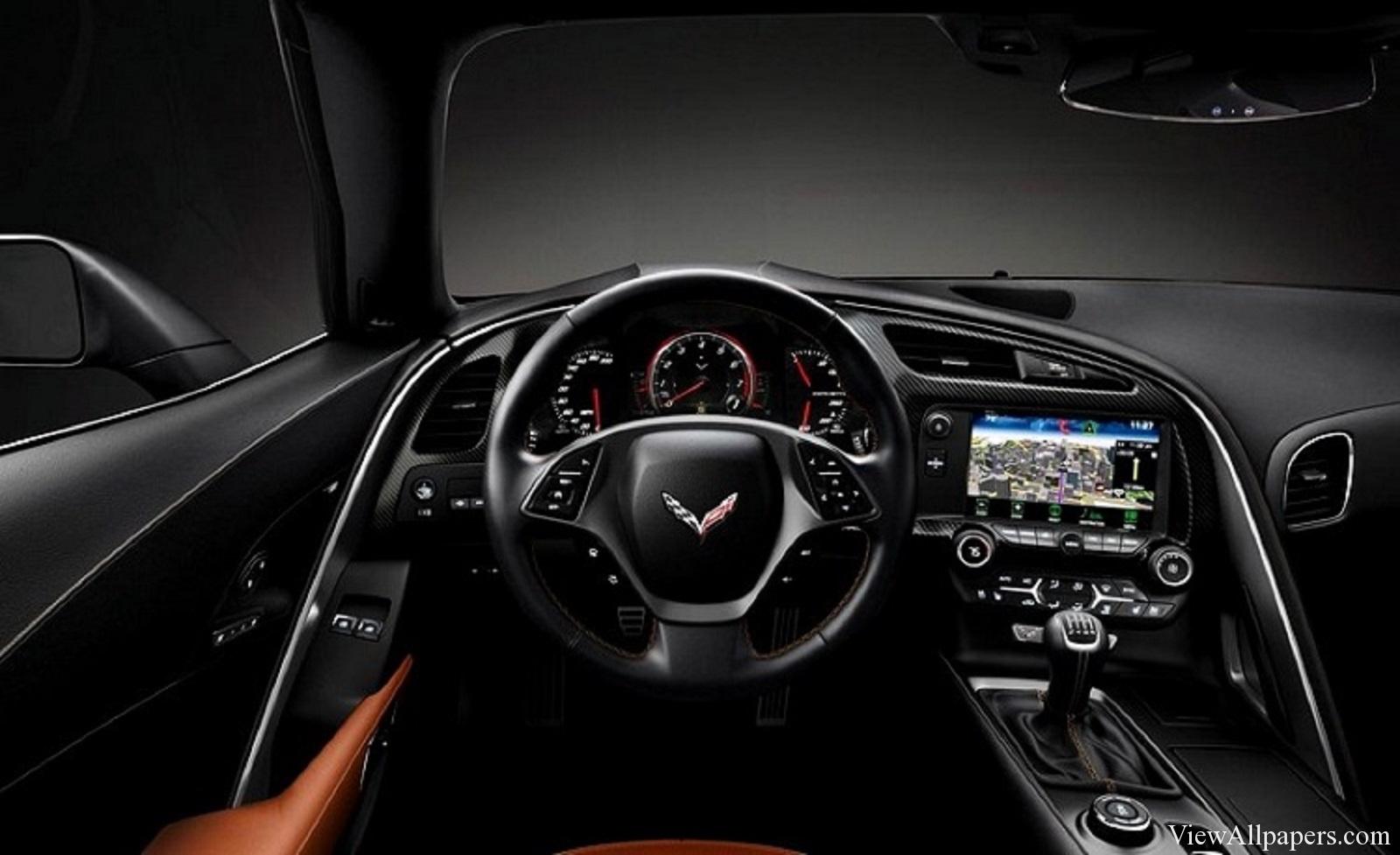 2016 Corvette Z07 Interior High Resolution Wallpaper download 1600x977