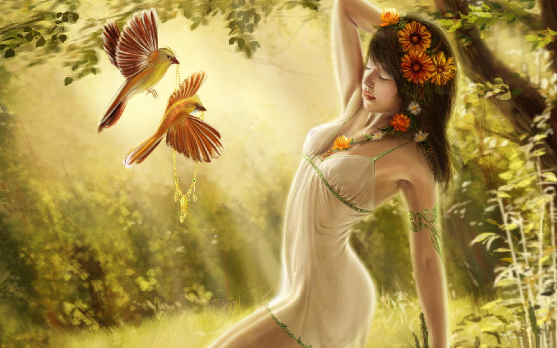 Digital Fantasy Girl Art Wallpapers HD Wallpapers 1920x1200