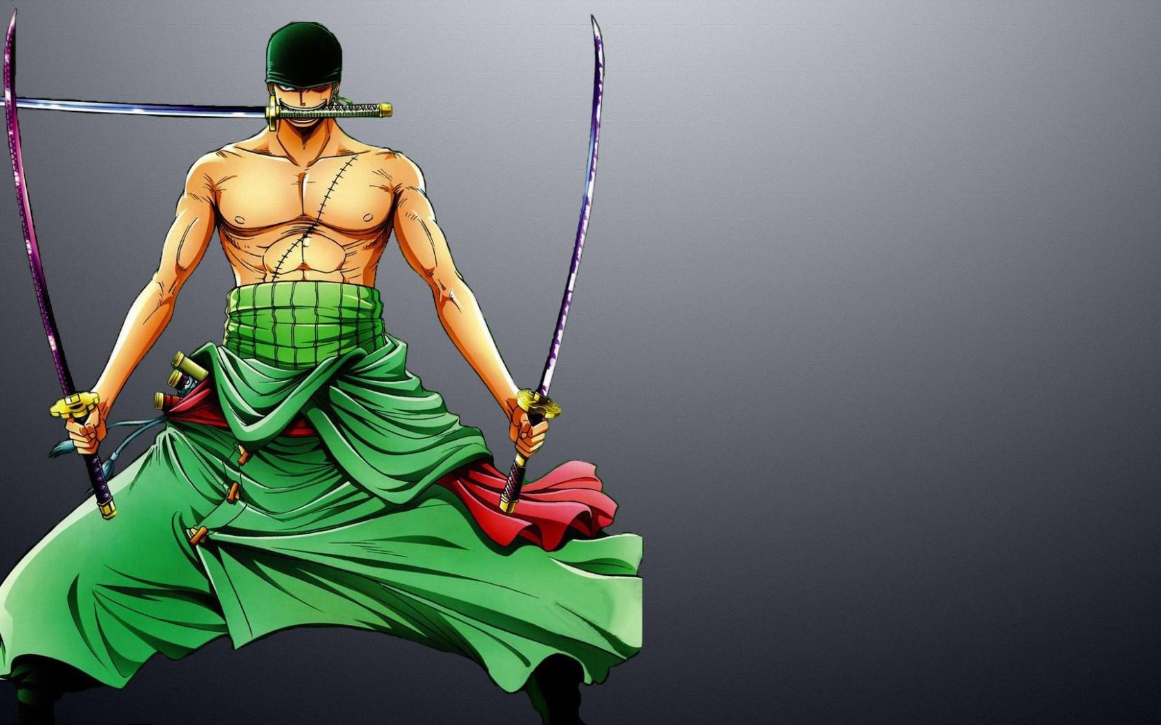 Roronoa Zoro with swords   One Piece HD desktop wallpaper 1680x1050