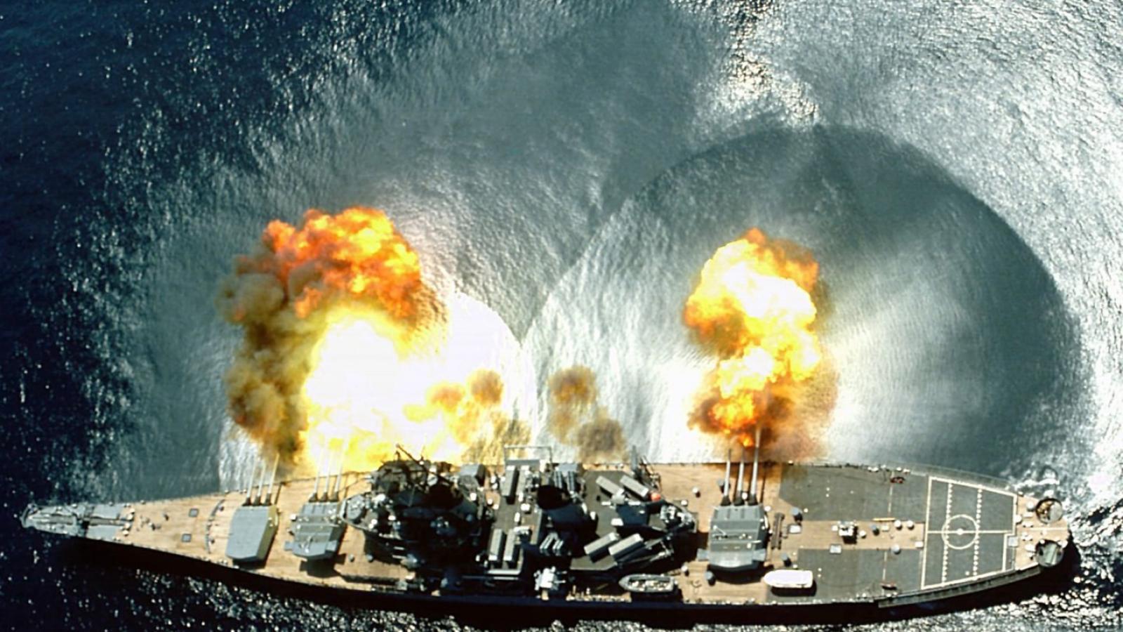 military navy battleship uss missouri hd wallpaper   28420   HQ 1600x900