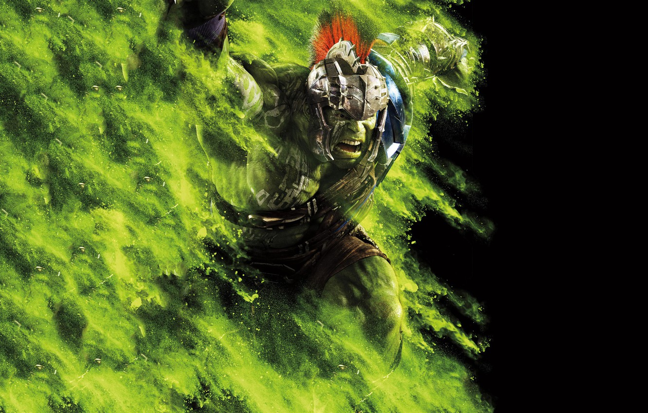 Wallpaper Hulk Ragnarok Lightning Warrior Gladiator Marvel 1332x850