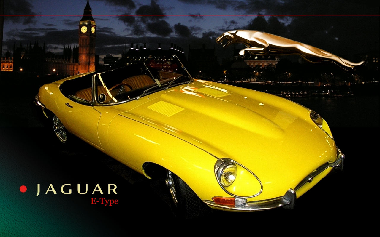 Download wallpaper PC wallpaper Jaguar E Type Roadster 1280x800