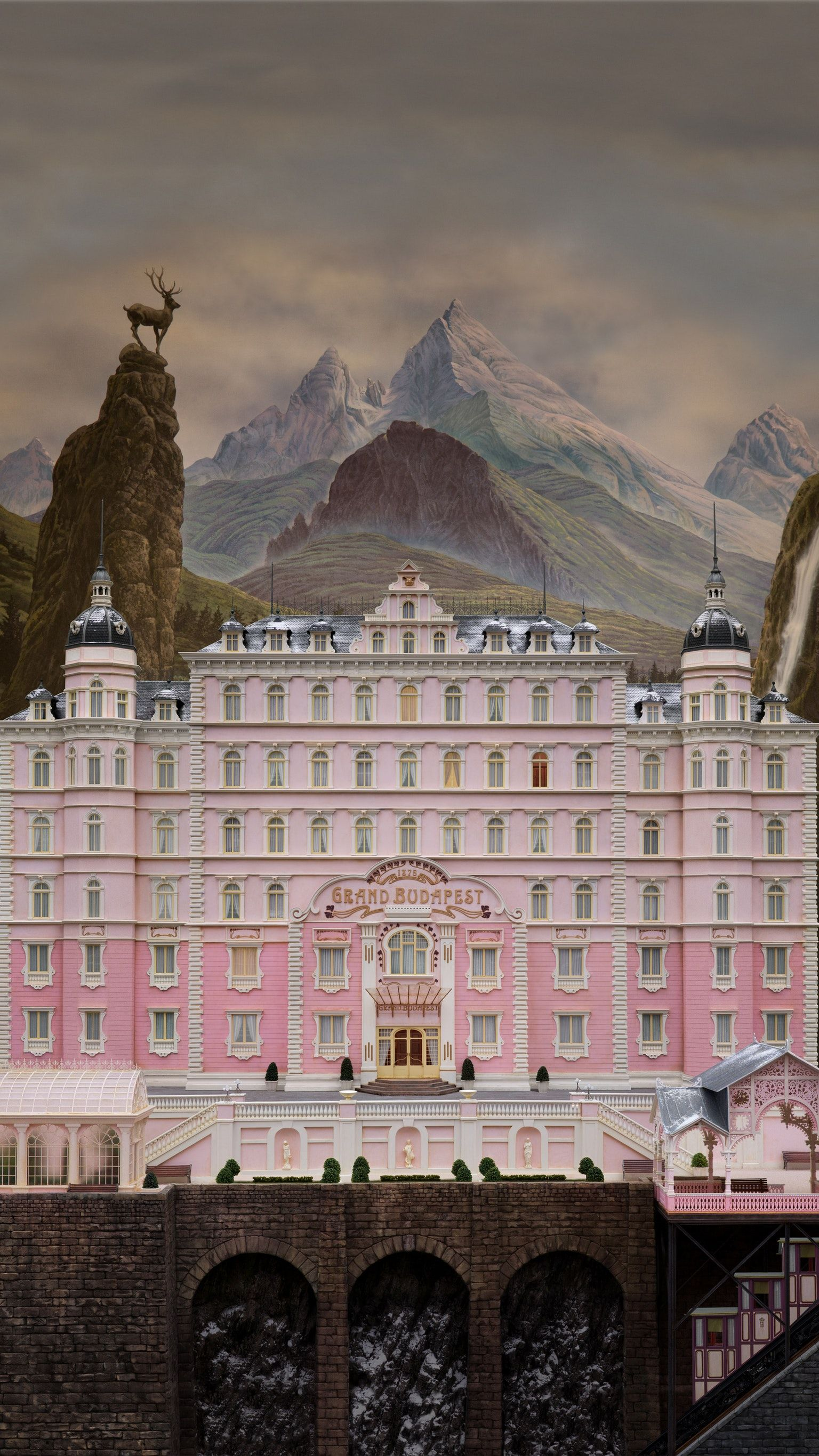 The Grand Budapest Hotel 2014 Phone Wallpaper in 2020 Grand 1536x2732