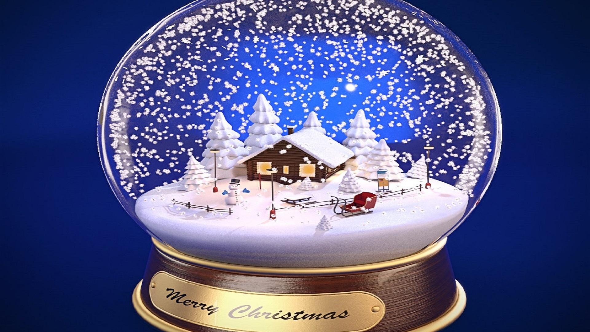 Открытка шар со снегом, смешных