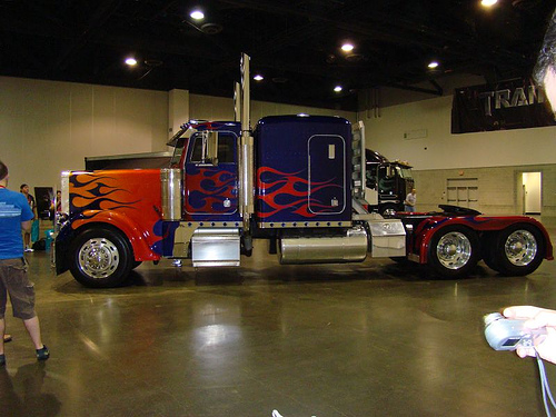 model 379 transformer semi truck paccar optimus hd wallpapers 500x375