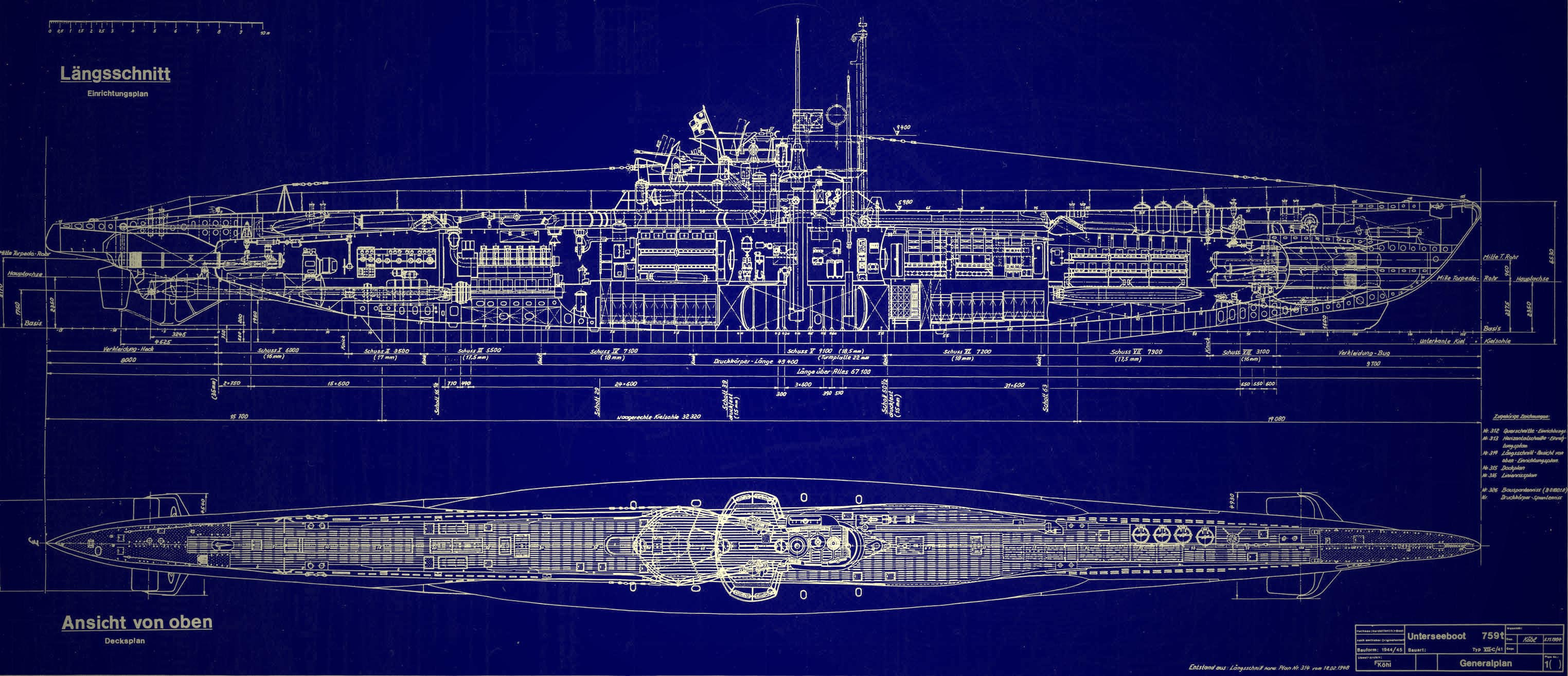 Image Gallery Submarine Blueprints