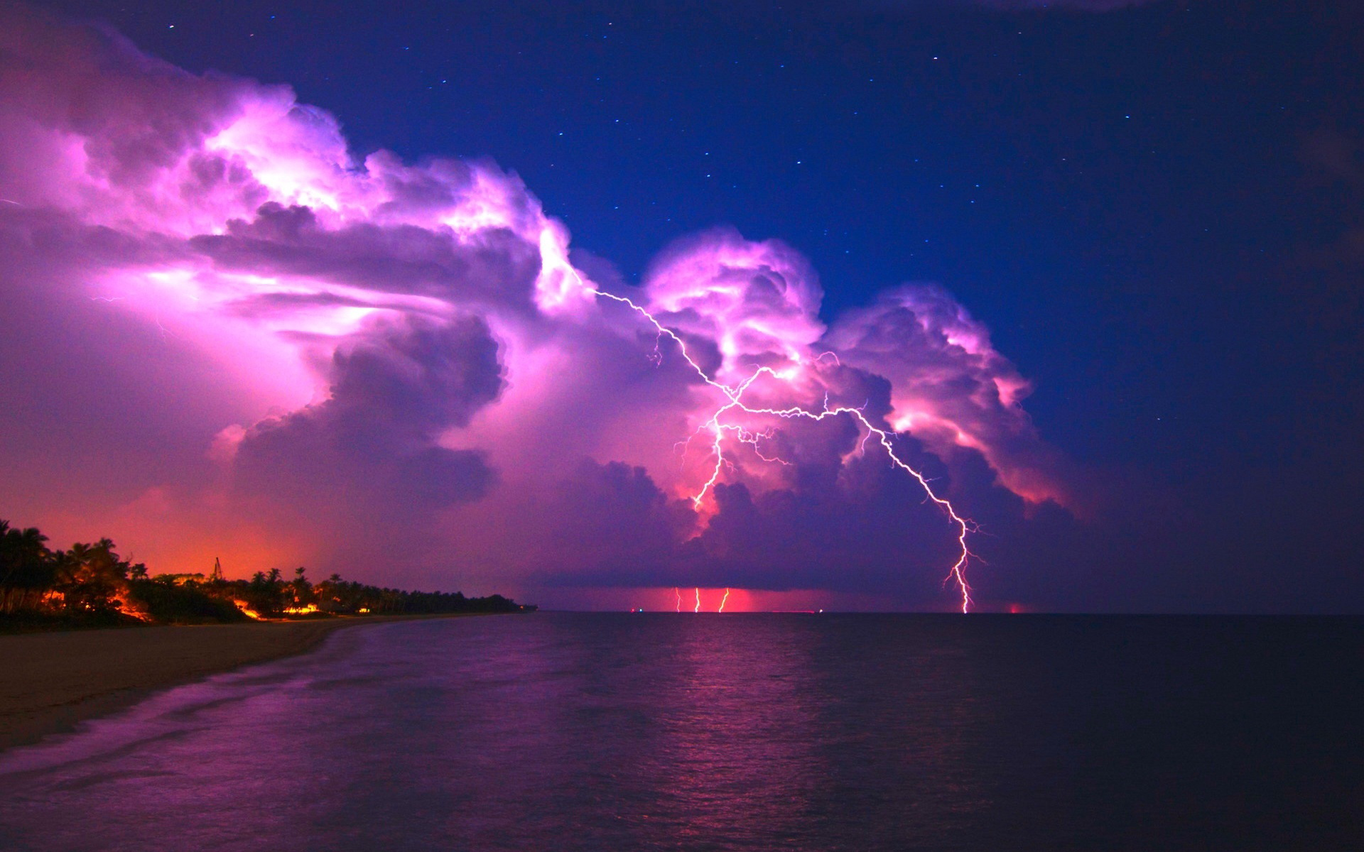 Lightning Storm Wallpaper 1920x1200
