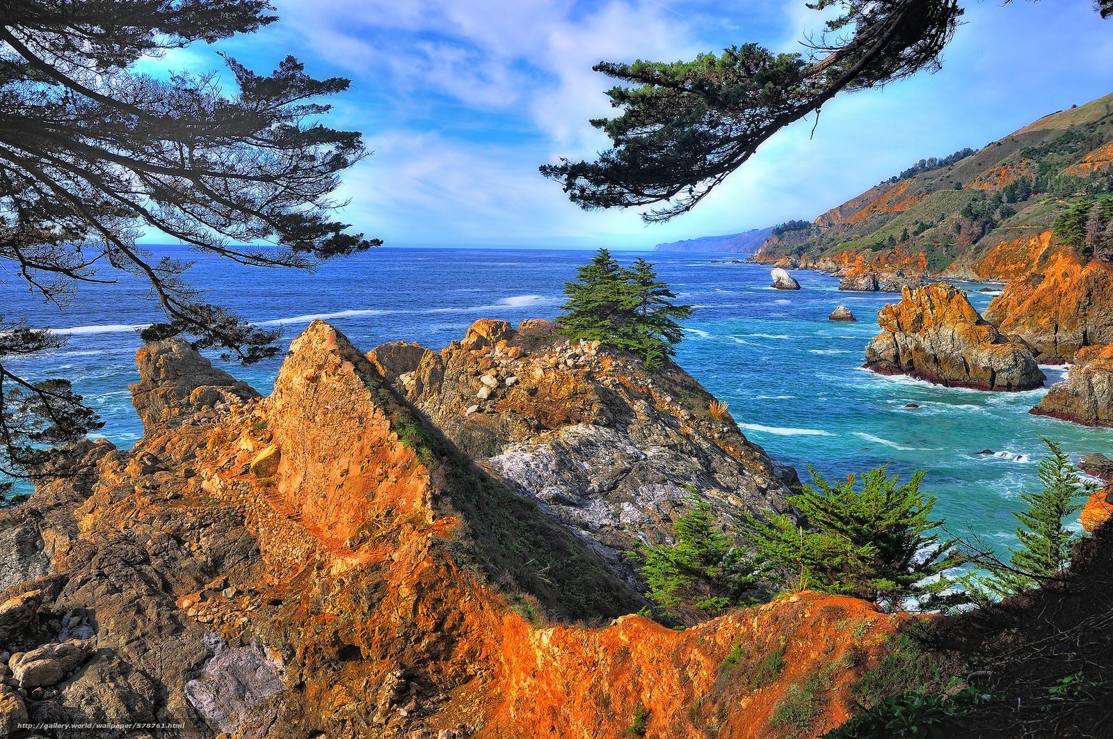 Pacific Ocean Big Sur California Beach 4k Hd Desktop: Big Sur Desktop Wallpaper