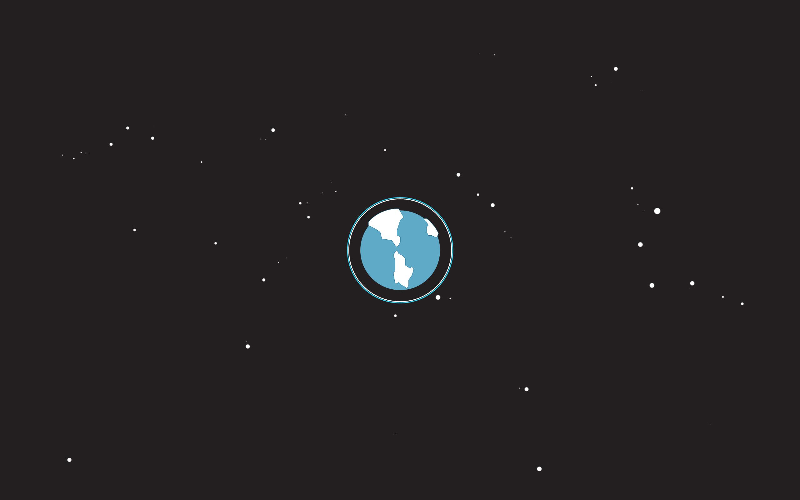 DESKTOP]Earth by Simon Gustavsson on Simple Desktops Download here 2560x1600