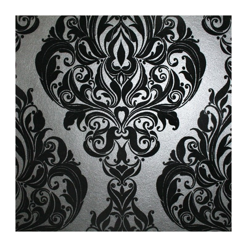 Kinky Vintage Black Flock Wallpaper Buy Wallpaper Direct 800x800