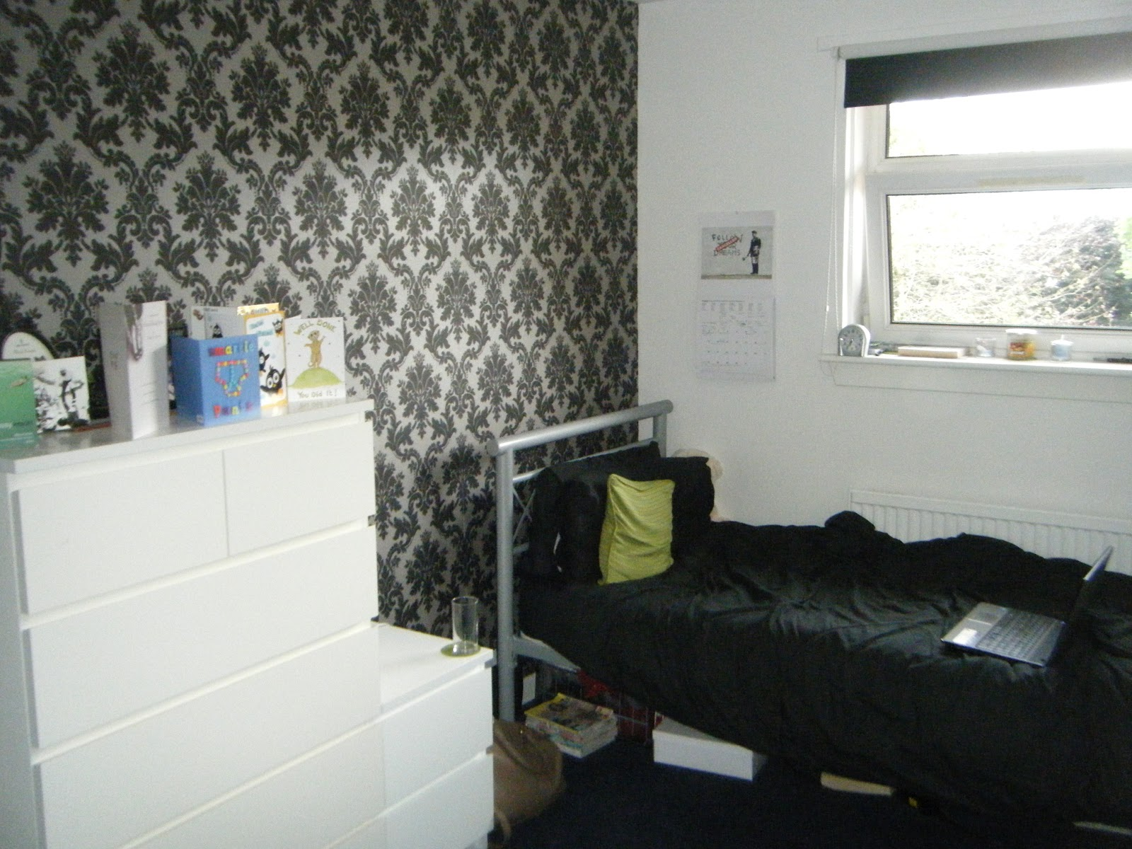 into my room The wallpaper is from BQ and the drawers are from IKEA 1600x1200