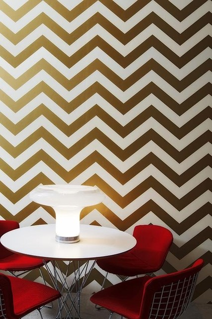 Tempaper Zee Removable Wallpaper Gold   Contemporary   Wallpaper   by 426x640