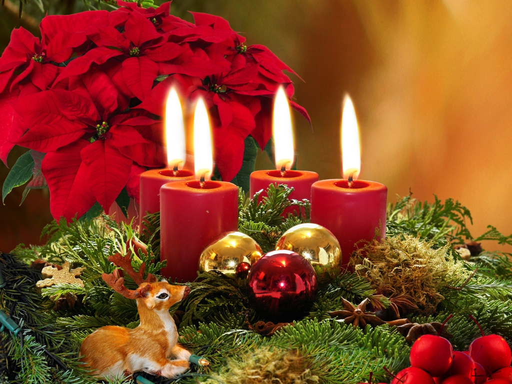 christmas candle wallpaper christmas ecards Christmas Wallpaper 1024x768