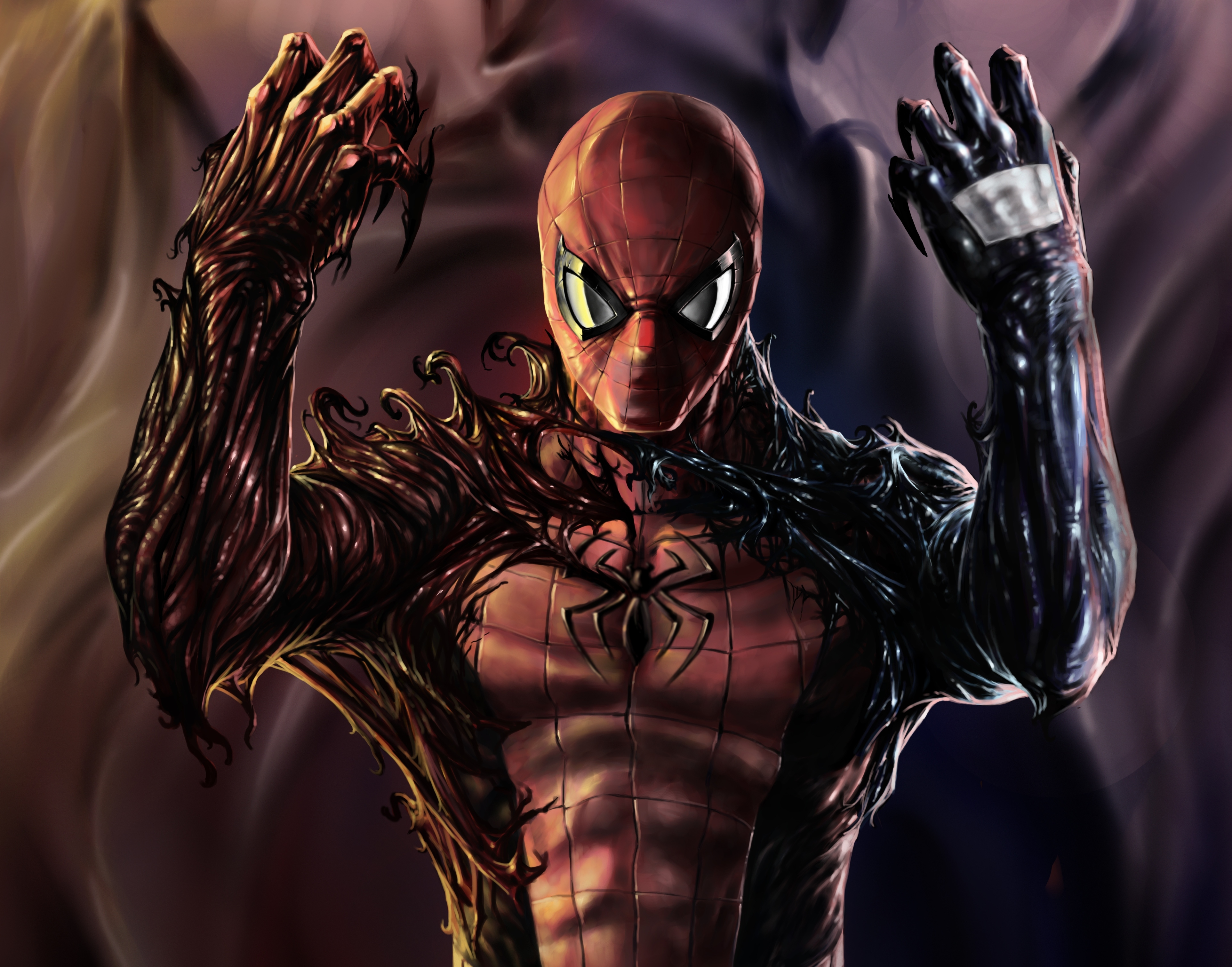 spiderman venom wallpaper wallpapersafari