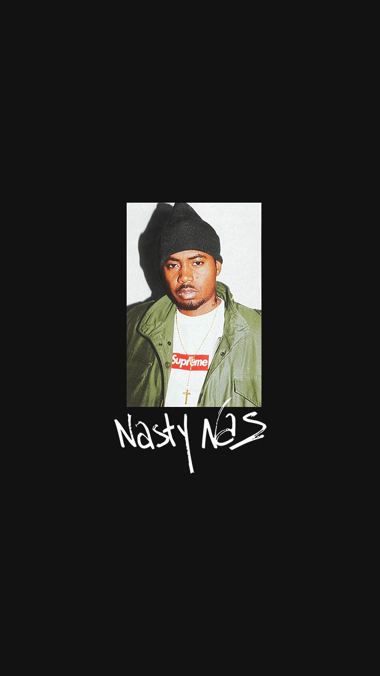 Nasty Nas Supreme Shirt   750x1334 Wallpaper   teahubio 750x1334