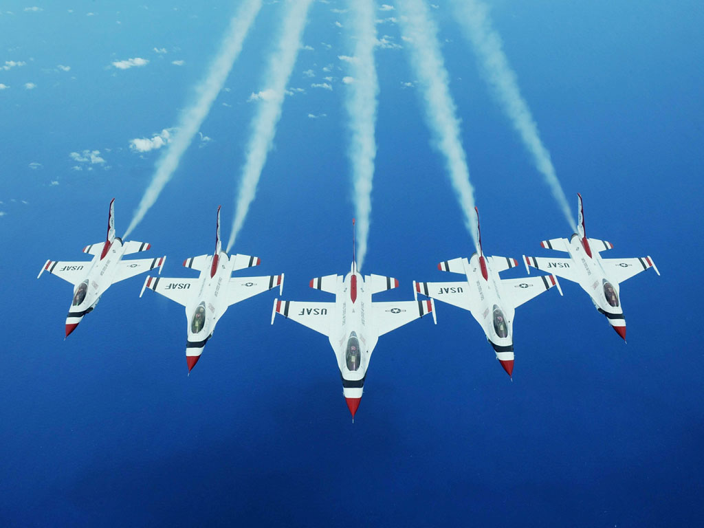 USAF Air Force 57th Wing Thunderbirds Fighter Weapons School Nellis 1024x768