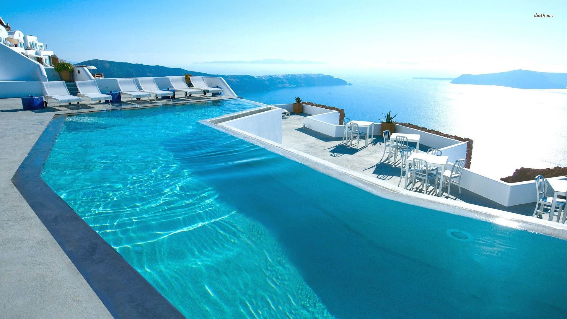 Grace Santorini Hotel pool wallpaper   Beach wallpapers   26450 1920x1080