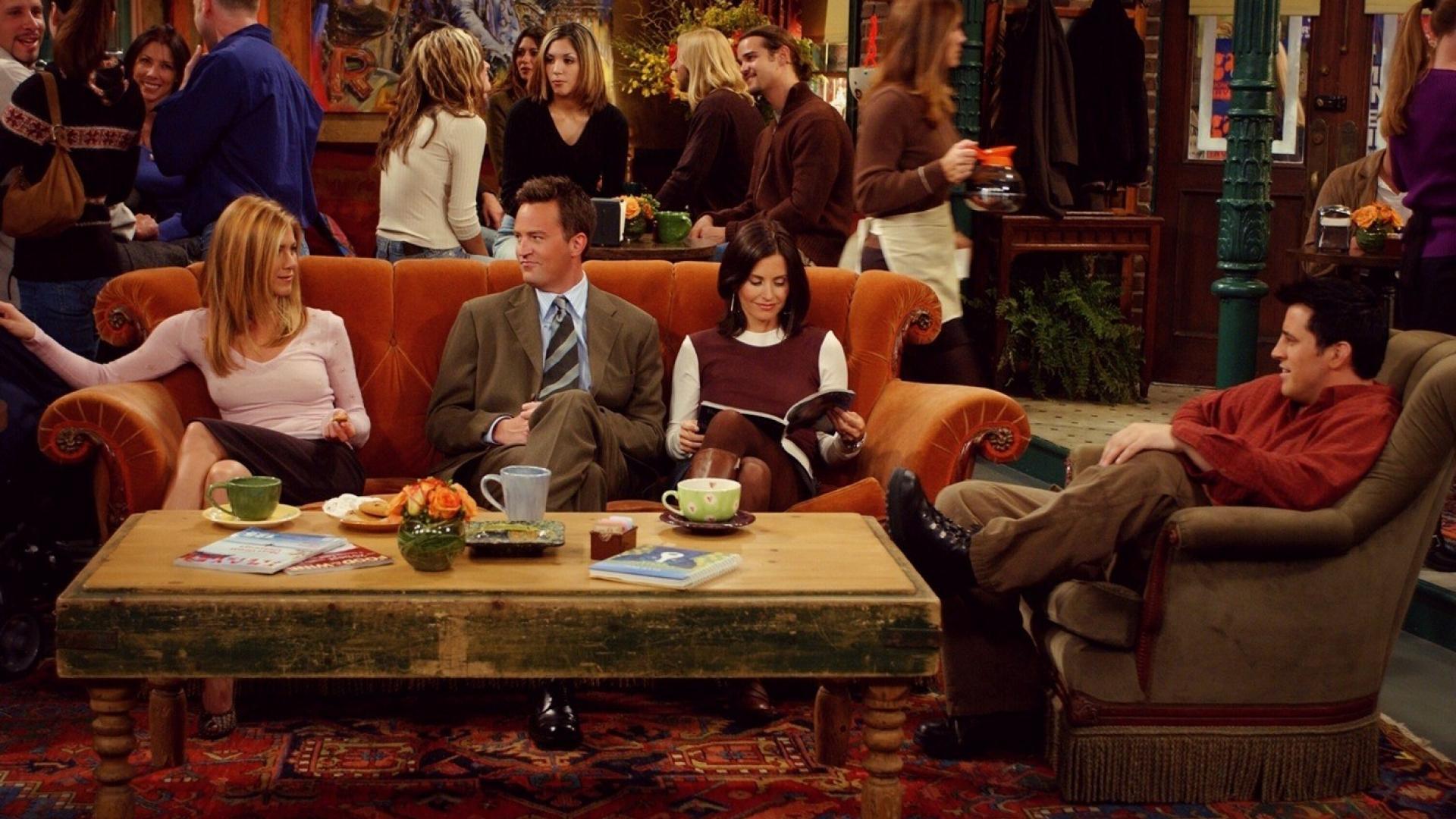 Friends tv series shows joey tribbiani sofa wallpaper 8187 1920x1080