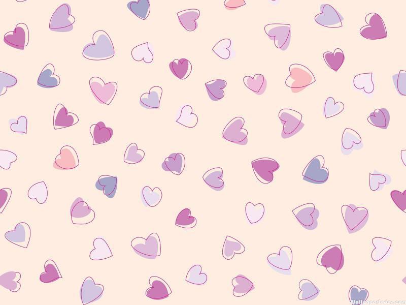 HD Cute Heart Pattern Wallpaper Download   139096 800x600