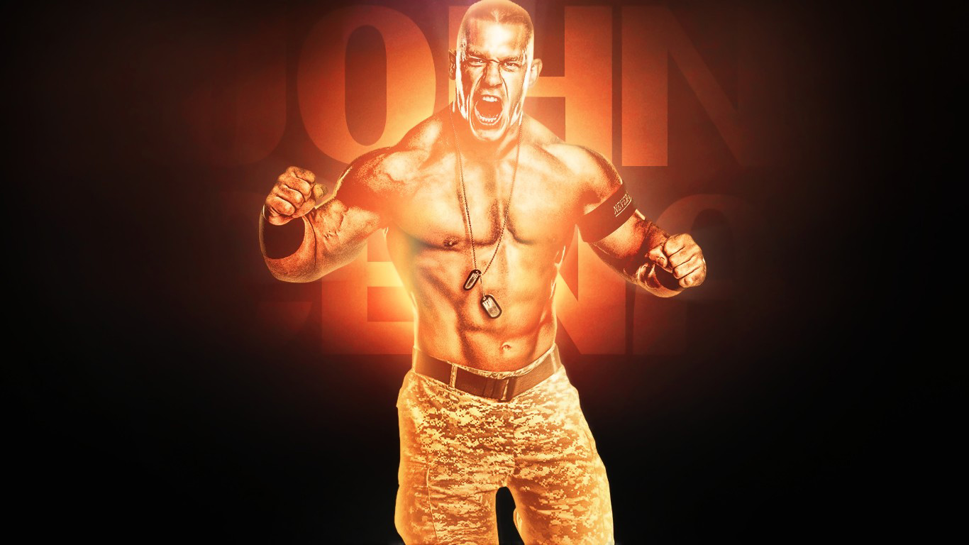 Wrestling Super Stars John Cena New HD Wallpaper 2013 1366x768