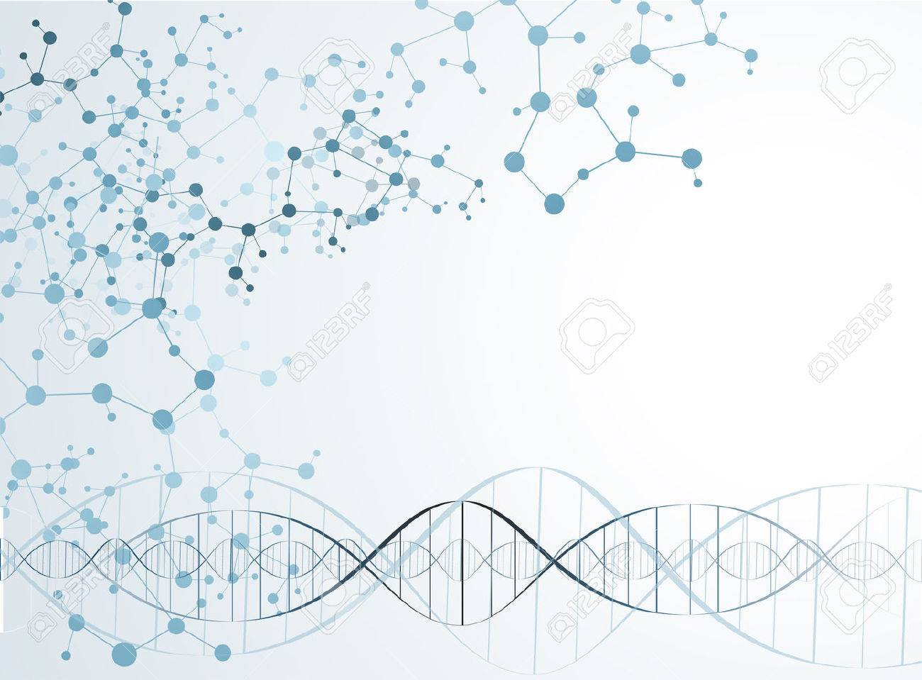 DNA Molecule Structure Background Vector Illustration Royalty 1300x959