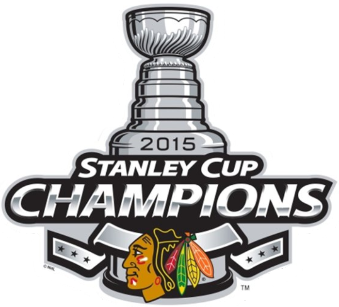 Chicago Blackhawks Champion Logo 2015   2015 Stanley Cup Champions 699x633