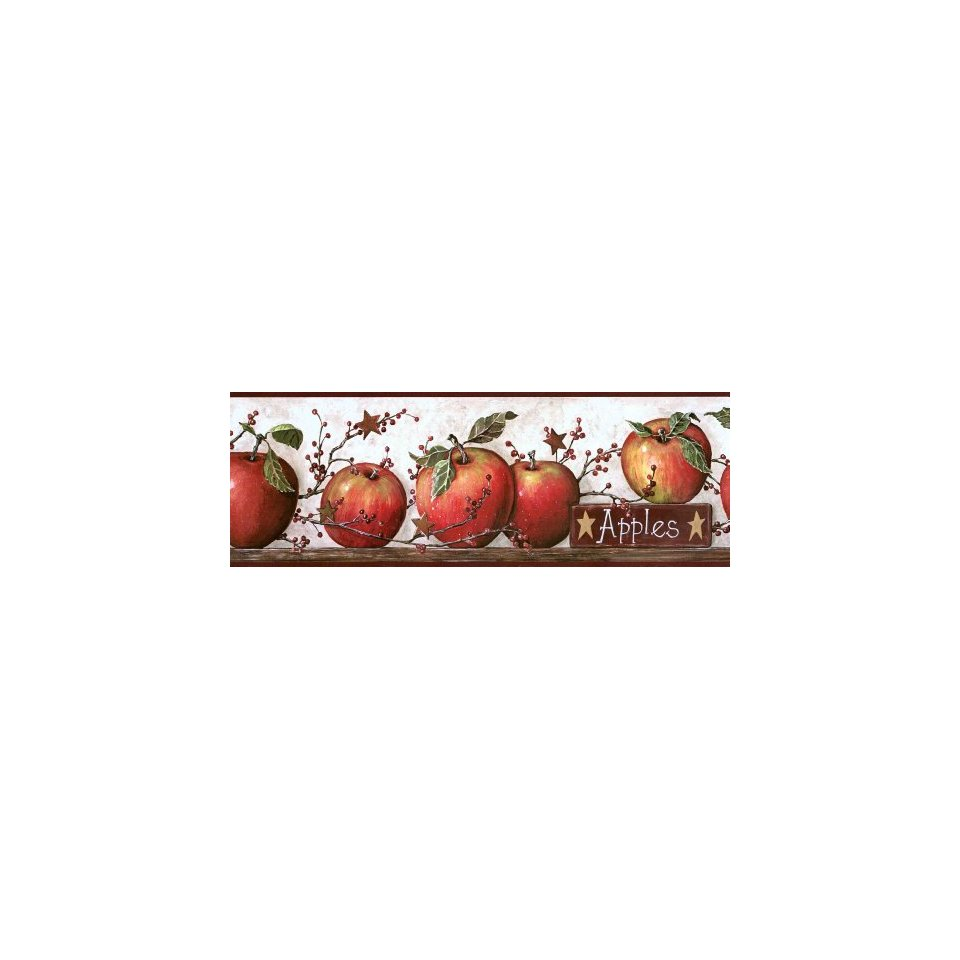 Country Apple and Tin Stars Wallpaper Border Home 960x960