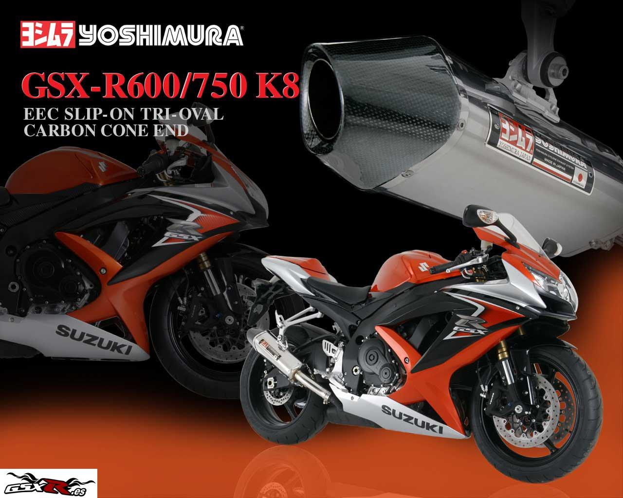 Wallpapers escapes Yoshimura para las Suzuki GSX R K8 Motos Suzuki 1280x1024