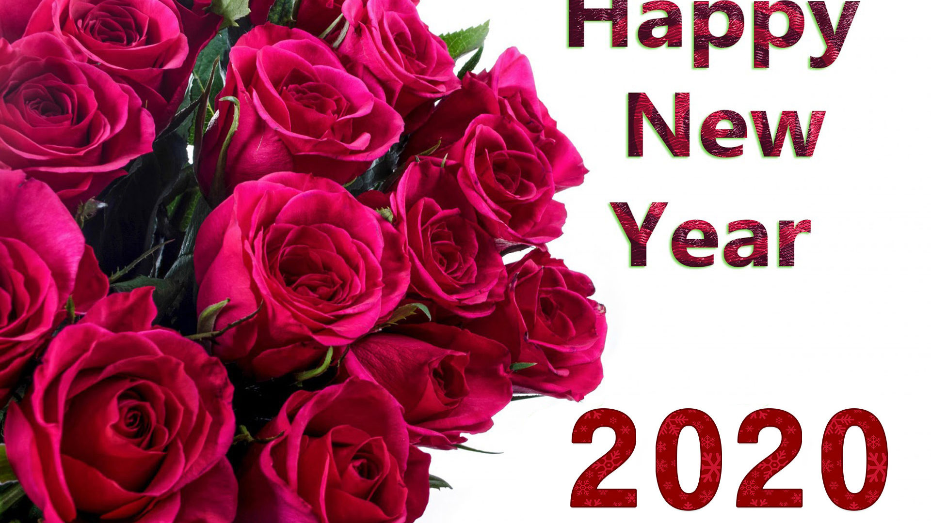 Happy New Year 2020 Red Roses Wallpapers Hd High Quality 1920x1200 1920x1080