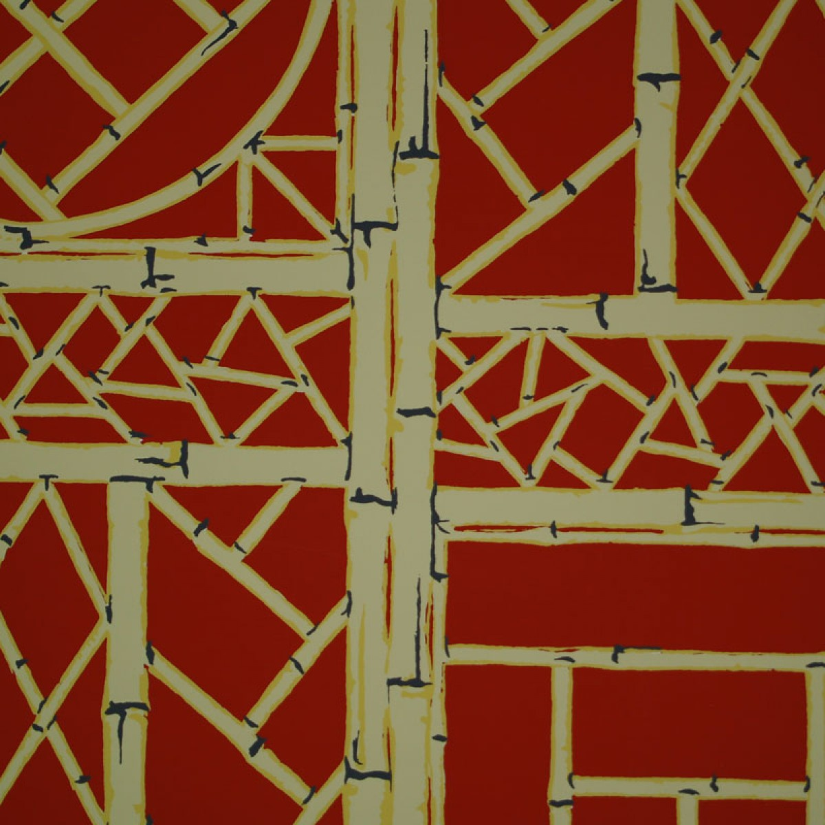 Shop Red Chinese Lattice Wallpaper 1200x1200