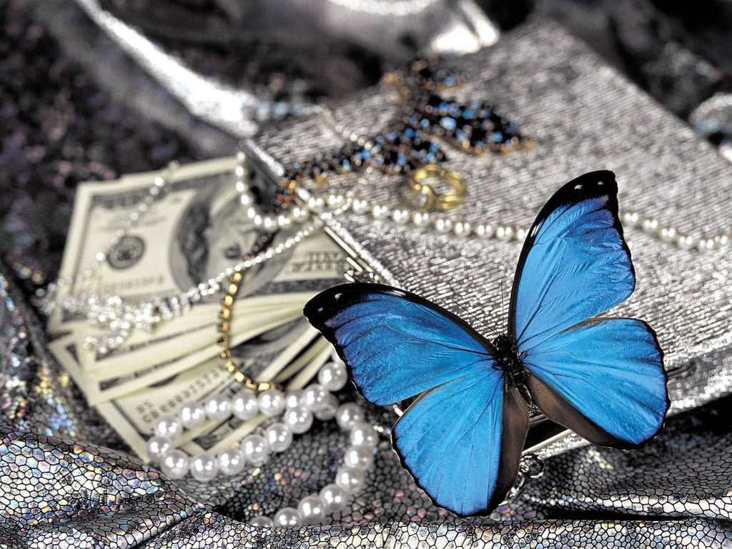 Butterfly Amulet brings money pictures screensavers 1024x768
