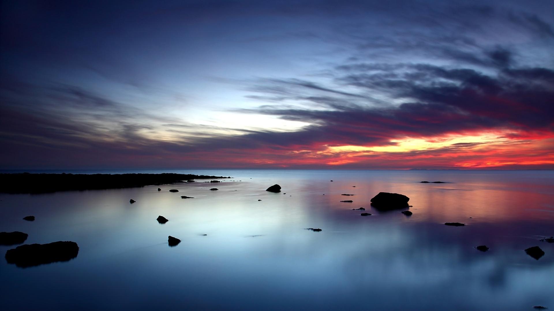 Beautiful Ocean Sunset Wallpaper 35975 1920x1080 px 1920x1080