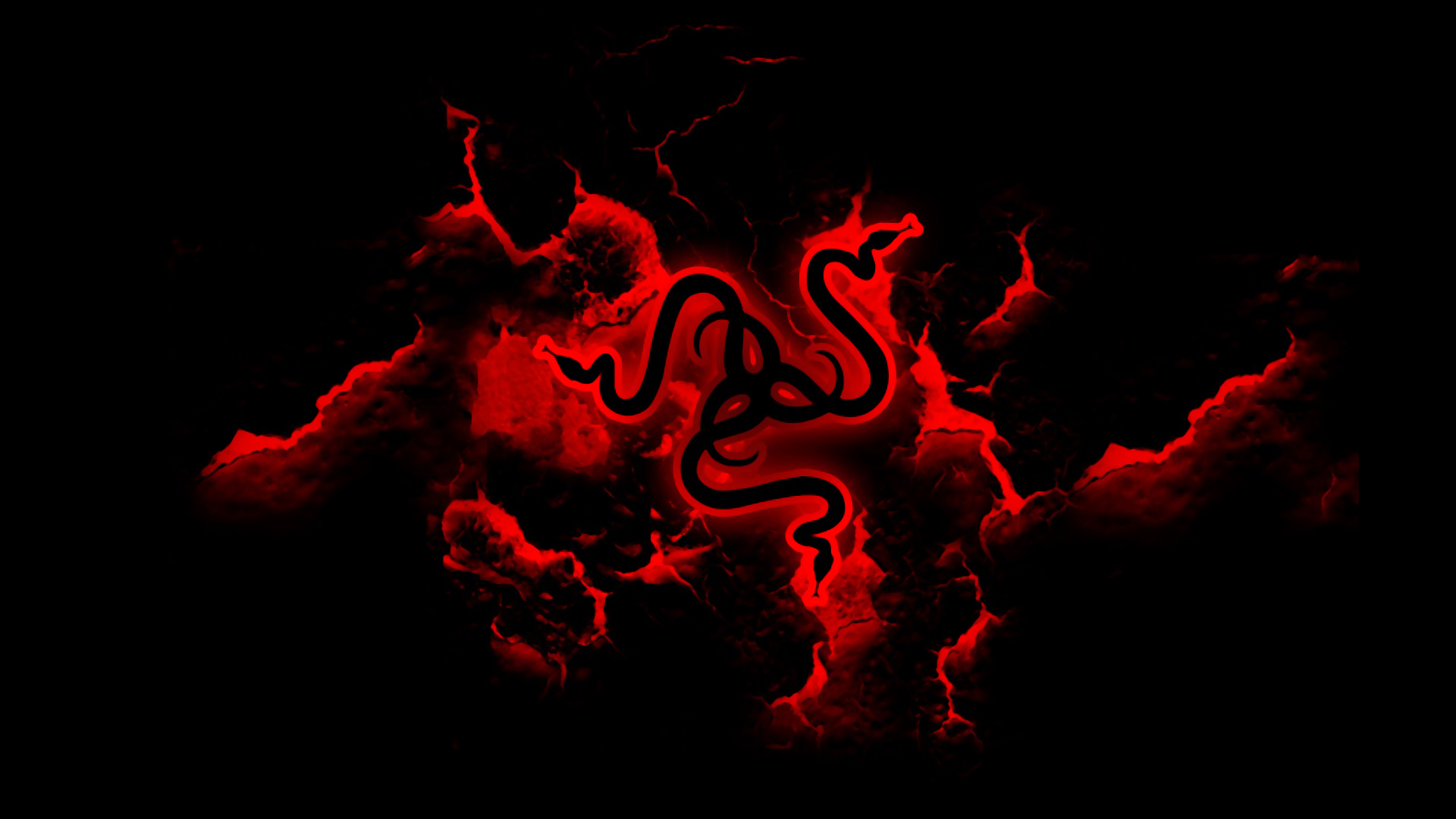 Cool Black And Red Backgrounds Razer red logo black 1920x1080