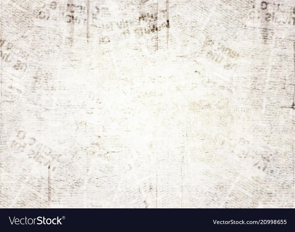 Vintage grunge newspaper texture background Vector Image 1000x786