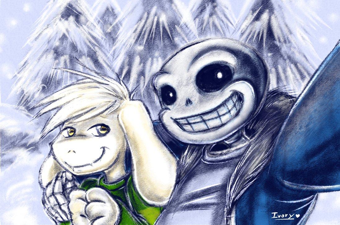 Selfie   Sans and Asriel Undertale by Blakmy 1098x728