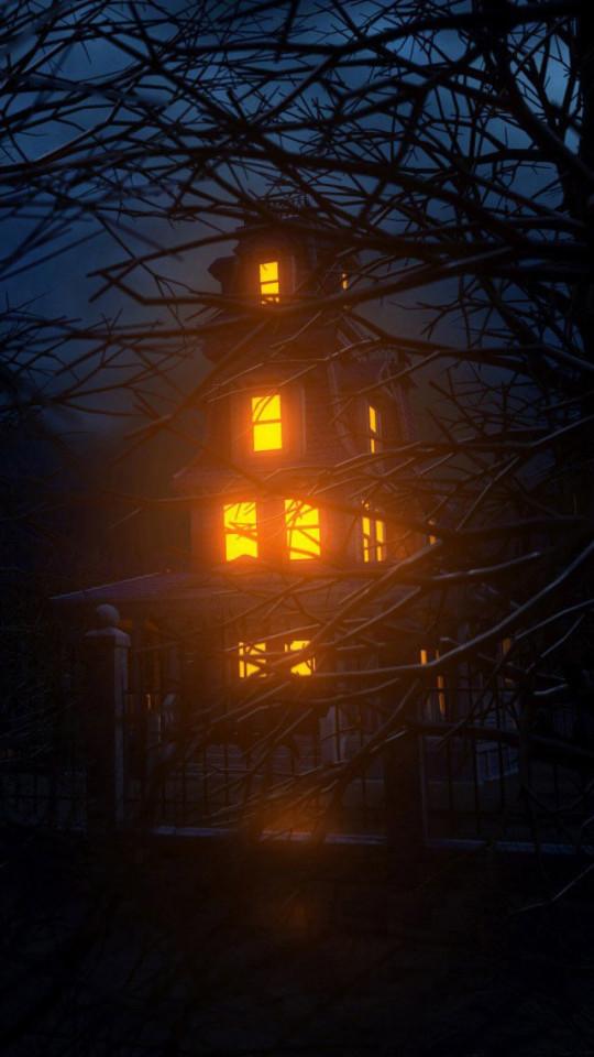 Terror Halloween House Wallpaper IPhone Wallpapers 540x960