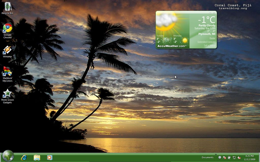 Picture of Windows 7 Starter Easy way to change wallpaper 1024x640