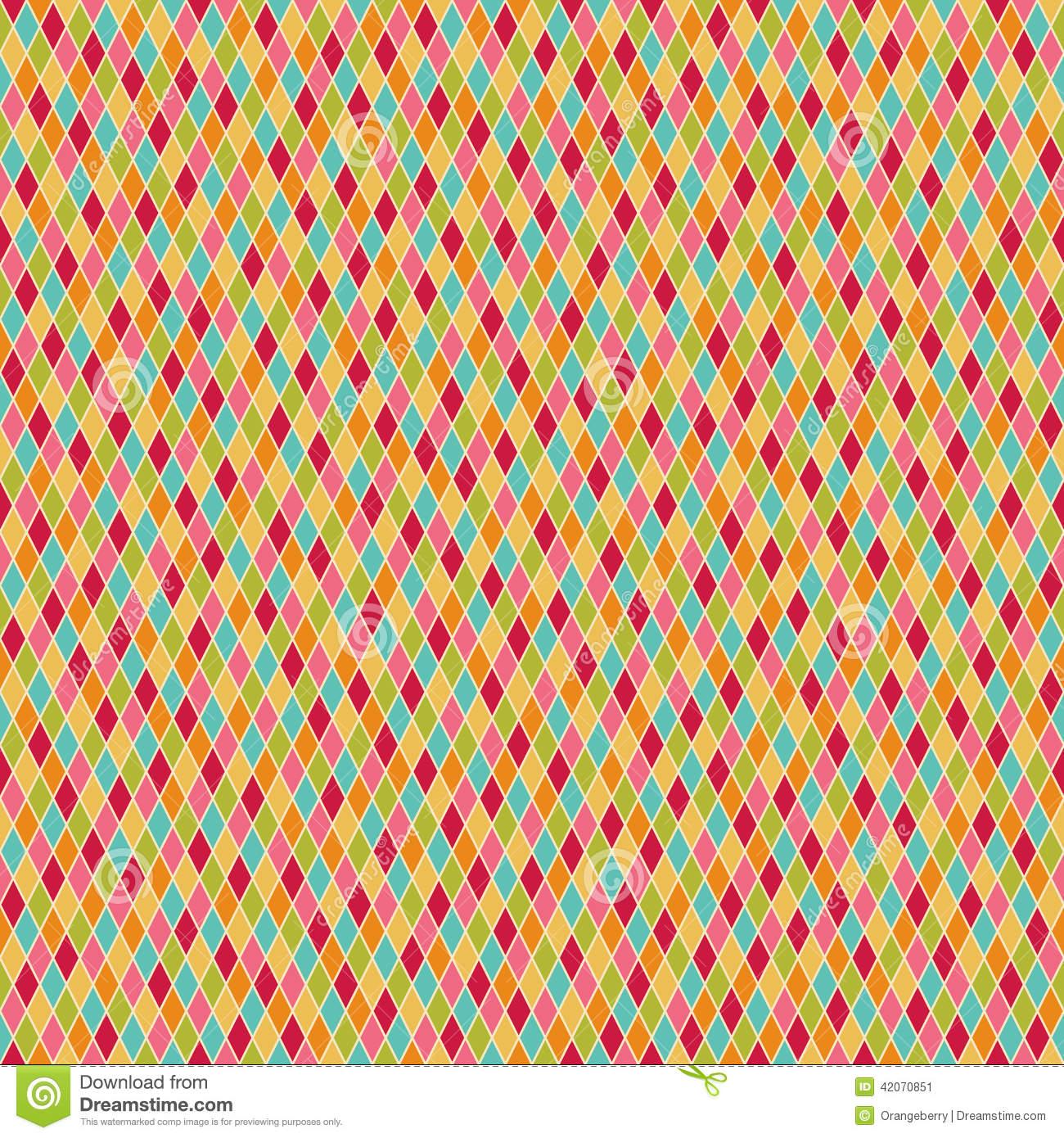 Diamond Harlequin Pattern Wallpaper Seamless colorful harlequin 1300x1390
